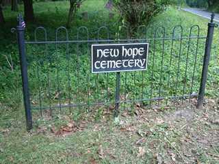 CEMETERY SIGN, NEW HOPE - Bucks County, Pennsylvania   NEW HOPE CEMETERY SIGN - Pennsylvania Gravestone Photos