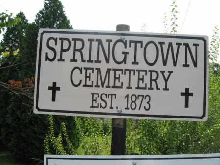 CEMETERY SIGN, SPRINGTOWN - Bucks County, Pennsylvania   SPRINGTOWN CEMETERY SIGN - Pennsylvania Gravestone Photos