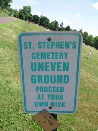 CEMETERY SIGN, ST. STEPHEN'S - Bucks County, Pennsylvania | ST. STEPHEN'S CEMETERY SIGN - Pennsylvania Gravestone Photos
