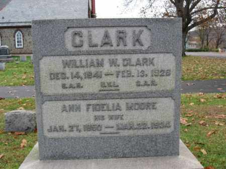MOORE CLARK, ANN FIDELIA - Bucks County, Pennsylvania | ANN FIDELIA MOORE CLARK - Pennsylvania Gravestone Photos