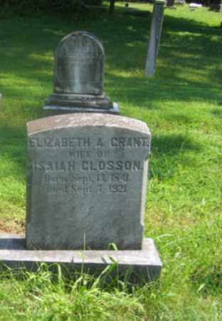 CLOSSON, ELIZABETH A. - Bucks County, Pennsylvania | ELIZABETH A. CLOSSON - Pennsylvania Gravestone Photos