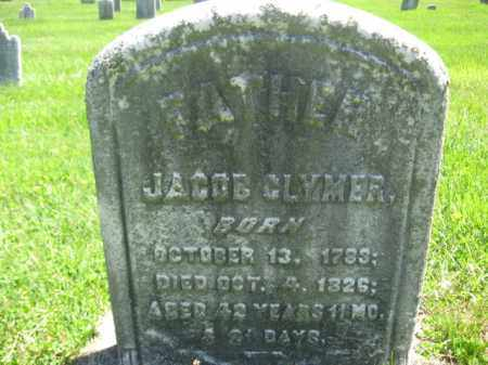 CLYMER, JACOB - Bucks County, Pennsylvania | JACOB CLYMER - Pennsylvania Gravestone Photos