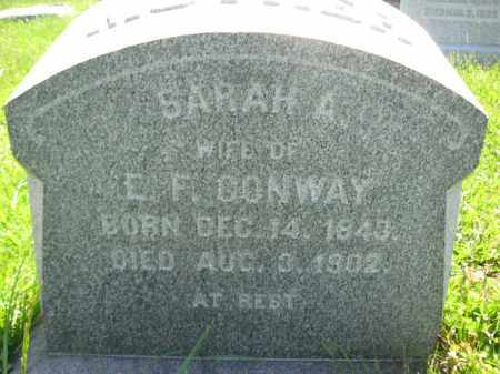 CONWAY, SARAH A. - Bucks County, Pennsylvania | SARAH A. CONWAY - Pennsylvania Gravestone Photos