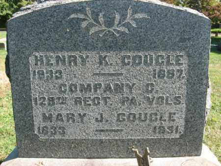 COUGLE, MARY J. - Bucks County, Pennsylvania | MARY J. COUGLE - Pennsylvania Gravestone Photos