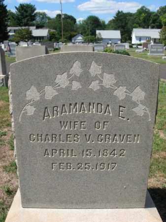 CRAVEN, ARAMANDA E. - Bucks County, Pennsylvania | ARAMANDA E. CRAVEN - Pennsylvania Gravestone Photos