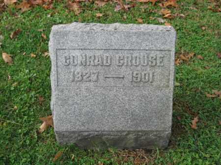 CROUSE, CONRAD - Bucks County, Pennsylvania | CONRAD CROUSE - Pennsylvania Gravestone Photos
