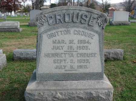 CROUSE, HENRIETTA - Bucks County, Pennsylvania | HENRIETTA CROUSE - Pennsylvania Gravestone Photos