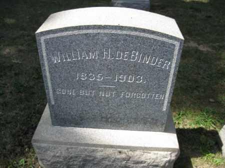 DEBINDER, WILLIAM H. - Bucks County, Pennsylvania | WILLIAM H. DEBINDER - Pennsylvania Gravestone Photos