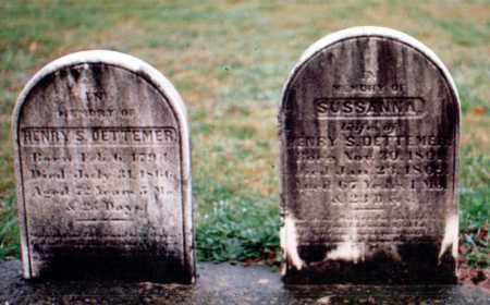 DETTEMER, HENRY S AND SUSSANNA - Bucks County, Pennsylvania | HENRY S AND SUSSANNA DETTEMER - Pennsylvania Gravestone Photos