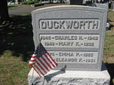 DUCKWORTH (CW), CHARLES H. - Bucks County, Pennsylvania | CHARLES H. DUCKWORTH (CW) - Pennsylvania Gravestone Photos