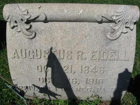 EIDELL (EIDEL) (CW), AUGUSTUS R. - Bucks County, Pennsylvania | AUGUSTUS R. EIDELL (EIDEL) (CW) - Pennsylvania Gravestone Photos