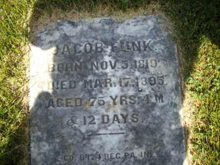 FUNK (CW), JACOB - Bucks County, Pennsylvania | JACOB FUNK (CW) - Pennsylvania Gravestone Photos