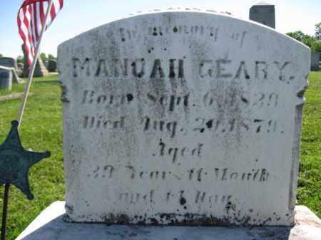 GEARY (CW), SGT.MANOAH - Bucks County, Pennsylvania | SGT.MANOAH GEARY (CW) - Pennsylvania Gravestone Photos