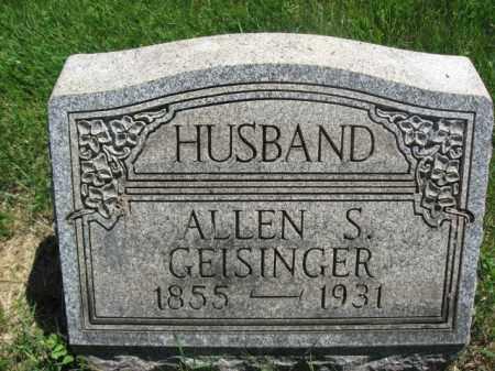 GEISINGER, ALLEN S. - Bucks County, Pennsylvania | ALLEN S. GEISINGER - Pennsylvania Gravestone Photos