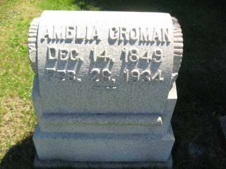 GROMAN, AMELIA - Bucks County, Pennsylvania | AMELIA GROMAN - Pennsylvania Gravestone Photos