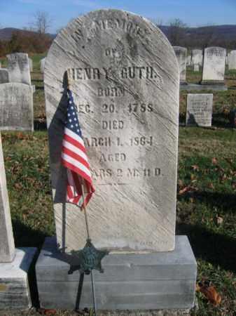 GUTH, HENRY - Bucks County, Pennsylvania | HENRY GUTH - Pennsylvania Gravestone Photos
