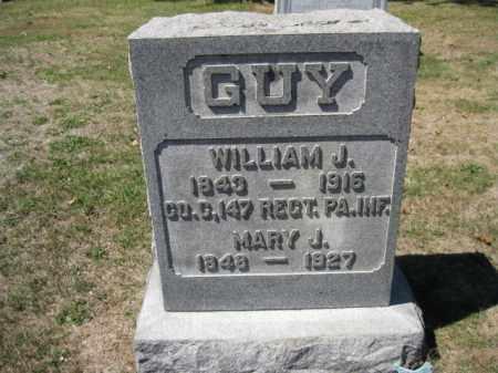 GUY (CW), WILLIAM J. - Bucks County, Pennsylvania | WILLIAM J. GUY (CW) - Pennsylvania Gravestone Photos