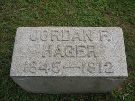 HAGER, JORDAN F. - Bucks County, Pennsylvania | JORDAN F. HAGER - Pennsylvania Gravestone Photos
