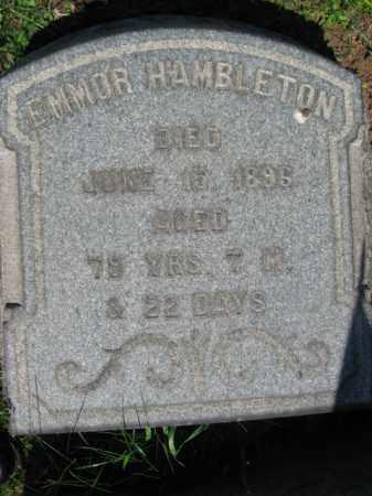 HAMBLETON, EMMOR - Bucks County, Pennsylvania | EMMOR HAMBLETON - Pennsylvania Gravestone Photos