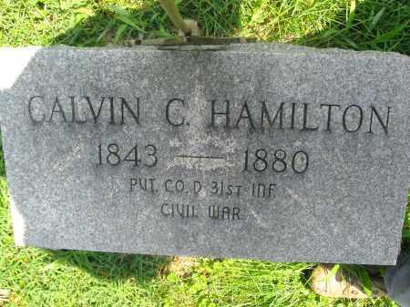 HAMILTON (CW), CALVIN C. - Bucks County, Pennsylvania   CALVIN C. HAMILTON (CW) - Pennsylvania Gravestone Photos