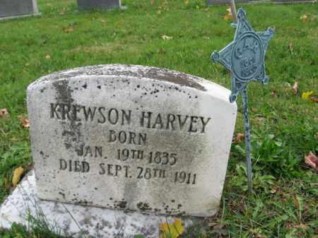 HARVEY (CW), KREWSON (KRUSEN) - Bucks County, Pennsylvania | KREWSON (KRUSEN) HARVEY (CW) - Pennsylvania Gravestone Photos