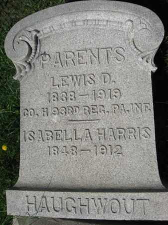 HAUGHWOUT (HAUGHAWOUT) (CW), LEWIS D. - Bucks County, Pennsylvania   LEWIS D. HAUGHWOUT (HAUGHAWOUT) (CW) - Pennsylvania Gravestone Photos