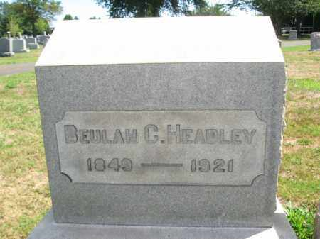 HEADLEY, BEULAH C. - Bucks County, Pennsylvania | BEULAH C. HEADLEY - Pennsylvania Gravestone Photos