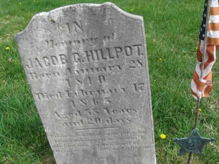HILLPOT, JACOB G. - Bucks County, Pennsylvania | JACOB G. HILLPOT - Pennsylvania Gravestone Photos