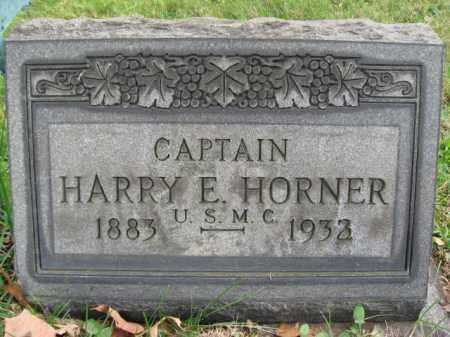 HORNER, CAPTAIN HARRY E. - Bucks County, Pennsylvania   CAPTAIN HARRY E. HORNER - Pennsylvania Gravestone Photos