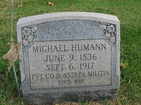 HUMANN, MICHAEL - Bucks County, Pennsylvania   MICHAEL HUMANN - Pennsylvania Gravestone Photos