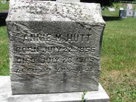 HUTT, ANNIE M. - Bucks County, Pennsylvania | ANNIE M. HUTT - Pennsylvania Gravestone Photos