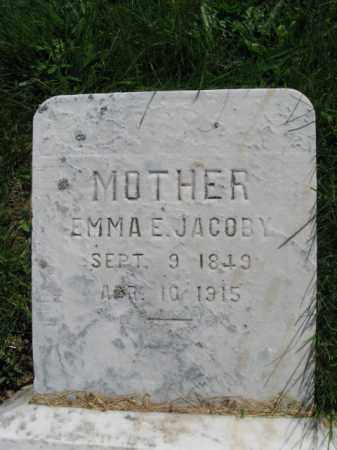 JACOBY, EMMA - Bucks County, Pennsylvania | EMMA JACOBY - Pennsylvania Gravestone Photos