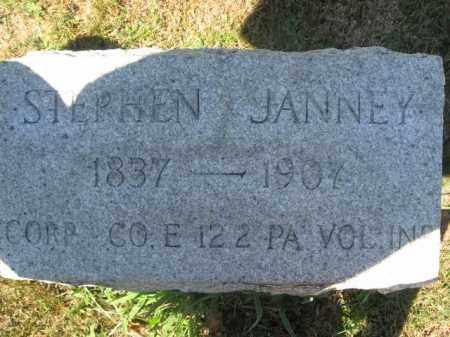 JANNEY (CW), STEPHEN - Bucks County, Pennsylvania | STEPHEN JANNEY (CW) - Pennsylvania Gravestone Photos