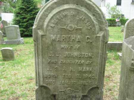 JOHNSTON, MARTHA C. - Bucks County, Pennsylvania   MARTHA C. JOHNSTON - Pennsylvania Gravestone Photos