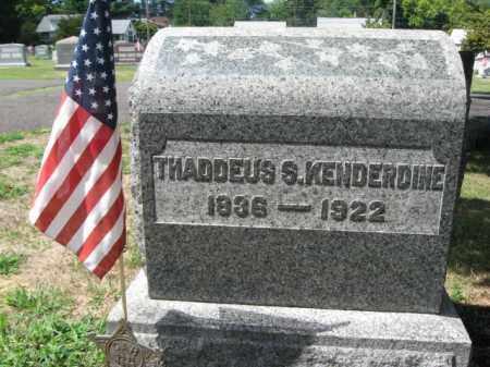 KENDERDINE (CW), THADDEUS S. - Bucks County, Pennsylvania | THADDEUS S. KENDERDINE (CW) - Pennsylvania Gravestone Photos