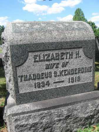 KENDERDINE, ELIZABETH H. - Bucks County, Pennsylvania | ELIZABETH H. KENDERDINE - Pennsylvania Gravestone Photos