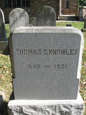 KNOWLES, THOMAS C. - Bucks County, Pennsylvania   THOMAS C. KNOWLES - Pennsylvania Gravestone Photos