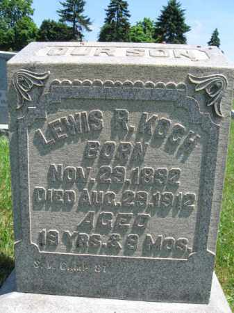KOCH, LEWIS R. - Bucks County, Pennsylvania | LEWIS R. KOCH - Pennsylvania Gravestone Photos