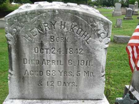 KOHL, HENRY H. - Bucks County, Pennsylvania | HENRY H. KOHL - Pennsylvania Gravestone Photos