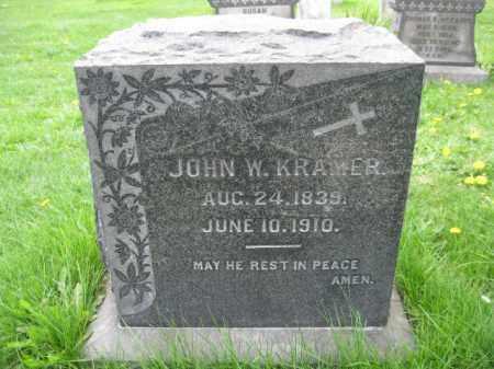 KRAMER, JOHN W, - Bucks County, Pennsylvania   JOHN W, KRAMER - Pennsylvania Gravestone Photos