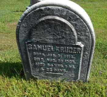 KRUGER, SAMUEL - Bucks County, Pennsylvania | SAMUEL KRUGER - Pennsylvania Gravestone Photos