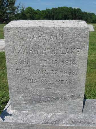 LAKE, CAPT.AZARIAH W. - Bucks County, Pennsylvania | CAPT.AZARIAH W. LAKE - Pennsylvania Gravestone Photos