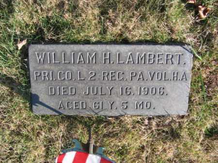 LAMBERT (CW), PVT.WILLIAM H. - Bucks County, Pennsylvania | PVT.WILLIAM H. LAMBERT (CW) - Pennsylvania Gravestone Photos