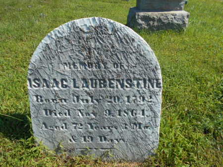LAUBENSTINE, ISAAC - Bucks County, Pennsylvania | ISAAC LAUBENSTINE - Pennsylvania Gravestone Photos