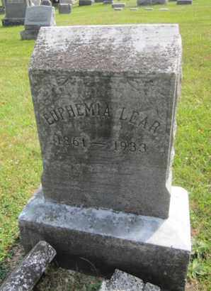 LEAR, EUPHEMIA - Bucks County, Pennsylvania | EUPHEMIA LEAR - Pennsylvania Gravestone Photos