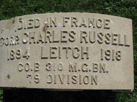 LEITCH (WW I), CHARLES RUSSELL - Bucks County, Pennsylvania   CHARLES RUSSELL LEITCH (WW I) - Pennsylvania Gravestone Photos