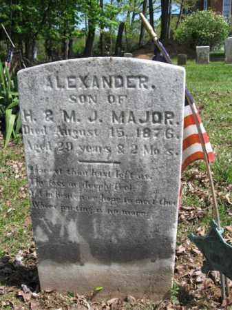 MAJOR, ALEXANDER - Bucks County, Pennsylvania | ALEXANDER MAJOR - Pennsylvania Gravestone Photos