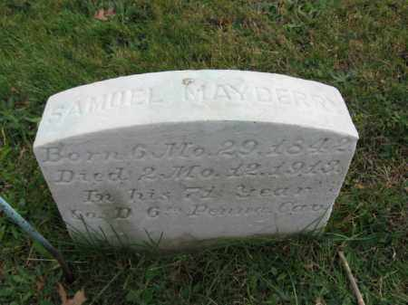 MAYBERRY, SAMUEL - Bucks County, Pennsylvania | SAMUEL MAYBERRY - Pennsylvania Gravestone Photos