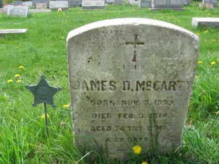 MCCARTY (CW), JAMES D. - Bucks County, Pennsylvania | JAMES D. MCCARTY (CW) - Pennsylvania Gravestone Photos