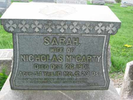 MCCARTY, SARAH - Bucks County, Pennsylvania | SARAH MCCARTY - Pennsylvania Gravestone Photos